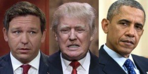 DeSantis, Trump and Obama